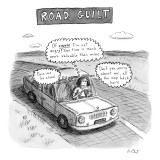 Road Guilt - New Yorker Cartoon Premium Giclee Print by Roz Chast