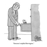 """Someone's misfiled Harrington."" - New Yorker Cartoon Premium Giclee Print by Gahan Wilson"