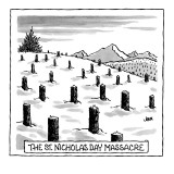 &#39;St. Nicholas Day Massacre&#39; - New Yorker Cartoon Premium Giclee Print by John Jonik