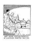 Aunt Spohie Arrived Promptly At Eighteen Minutes Past Six. - New Yorker Cartoon Premium Giclee Print by Glen Baxter