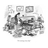 """I'm running a loose ship."" - New Yorker Cartoon Premium Giclee Print by Victoria Roberts"