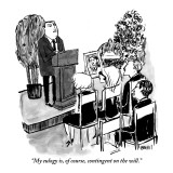 """""""My eulogy is, of course, contingent on the will."""" - New Yorker Cartoon Premium Giclee Print by Kate Beaton"""