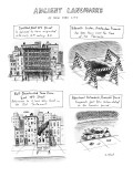Ancient Landmarks of New York City - New Yorker Cartoon Premium Giclee Print by Roz Chast