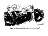 """Sure, we hobnobbed, but we never networked."" - New Yorker Cartoon Premium Giclee Print by William Hamilton"