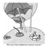 """We seem to have drifted into someone's mai tai."" - New Yorker Cartoon Premium Giclee Print by Gahan Wilson"