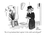 """No, it's my husband that's expired.  Is his credit card still good?"" - New Yorker Cartoon Premium Giclee Print by Leo Cullum"