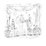 """Your piece is bigger!"" - New Yorker Cartoon Premium Giclee Print by Barbara Smaller"