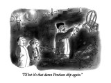 """I'll bet it's that damn Pentium chip again."" - New Yorker Cartoon Premium Giclee Print by Arnie Levin"