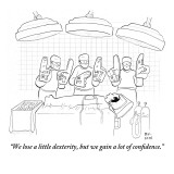"""We lose a little dexterity, but we gain a lot of confidence."" - New Yorker Cartoon Premium Giclee Print by Paul Noth"