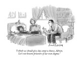 """I think we should give day camp a chance, Adrian.  Let's not become priso…"" - New Yorker Cartoon Premium Giclee Print by Mort Gerberg"