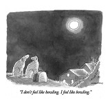 """I don't feel like howling.  I feel like bowling."" - New Yorker Cartoon Premium Giclee Print by Mick Stevens"