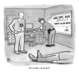 """Sir, he left a suicide deck."" - New Yorker Cartoon Premium Giclee Print by Paul Noth"