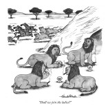 """Shall we join the ladies?"" - New Yorker Cartoon Premium Giclee Print by J.B. Handelsman"