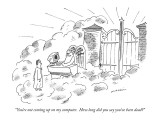"""You're not coming up on my computer.  How long did you say you've been dead?"" - New Yorker Cartoon Premium Giclee Print by Michael Maslin"