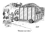 """Résumés over there."" - New Yorker Cartoon Premium Giclee Print by Tom Cheney"