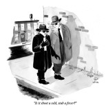 """Is it shoot a cold, stab a fever?"" - New Yorker Cartoon Premium Giclee Print by Emily Flake"
