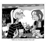 """Talk to me. You have wounds. I have salt."" - New Yorker Cartoon Premium Giclee Print by William Haefeli"