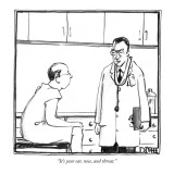 """It's your ear, nose, and throat."" - New Yorker Cartoon Premium Giclee Print by Matthew Diffee"