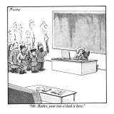 """Mr. Butler, your ten-o'clock is here."" - New Yorker Cartoon Premium Giclee Print by Harry Bliss"