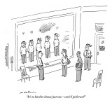 """It's so hard to choose just one—can't I pick two?"" - New Yorker Cartoon Premium Giclee Print by Michael Maslin"