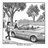 """You drive, I'll criticize."" - New Yorker Cartoon Premium Giclee Print by Harry Bliss"