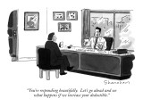 """You're responding beautifully.  Let's go ahead and see what happens if we…"" - New Yorker Cartoon Premium Giclee Print by Danny Shanahan"