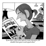"""""""If you didn't want to feel inferior to your classmates, you shouldn't hav…"""" - New Yorker Cartoon Premium Giclee Print by William Haefeli"""