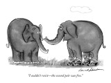 """I couldn't resist—the second pair was free."" - New Yorker Cartoon Premium Giclee Print by Bernard Schoenbaum"