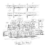 (&quot;Herbal Tea Party&quot;) - New Yorker Cartoon Premium Giclee Print by Barbara Smaller