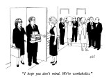 """I hope you don't mind.  We're workaholics."" - New Yorker Cartoon Premium Giclee Print by Tom Kleh"