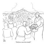 """Did Jesus create these locally?"" - New Yorker Cartoon Premium Giclee Print by Paul Noth"