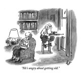 """He's angry about getting old."" - New Yorker Cartoon Premium Giclee Print by Frank Cotham"