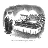 """We never say 'death'—we prefer 'deadness.' "" - New Yorker Cartoon Premium Giclee Print by Frank Cotham"