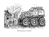 """We motored over to say hi!"" - New Yorker Cartoon Premium Giclee Print by Edward Koren"