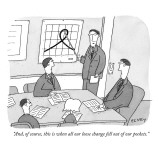 """And, of course, this is when all our loose change fell out of our pockets."" - New Yorker Cartoon Premium Giclee Print by Peter C. Vey"
