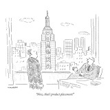 &quot;Now, that&#39;s product placement!&quot; - New Yorker Cartoon Premium Giclee Print by Robert Mankoff