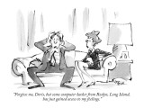 """Forgive me, Doris, but some computer hacker from Roslyn, Long Island, has…"" - New Yorker Cartoon Premium Giclee Print by Lee Lorenz"