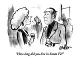 """How long did you live in Santa Fe?"" - New Yorker Cartoon Premium Giclee Print by Warren Miller"