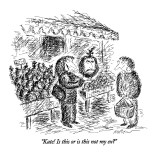 """""""Kate! Is this or is this not my ex?"""" - New Yorker Cartoon Premium Giclee Print by Edward Koren"""