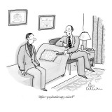 """After-psychotherapy mint?"" - New Yorker Cartoon Premium Giclee Print by Leo Cullum"