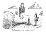"""""""It all depends on how you define 'chop.'"""" - New Yorker Cartoon Premium Giclee Print by Tom Cheney"""