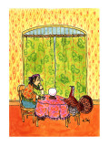 Turkey getting his fortune told as  fortune teller sheds a tear. - New Yorker Cartoon Premium Giclee Print by William Steig