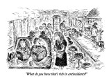 """What do you have that's rich in antioxidants?"" - New Yorker Cartoon Premium Giclee Print by Edward Koren"
