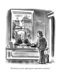 """We think you may be suffering from information underload."" - New Yorker Cartoon Premium Giclee Print by Ed Fisher"