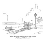 """Winter in Central Park just isn't the same without all of last year's Chr…"" - New Yorker Cartoon Premium Giclee Print by Jack Ziegler"