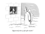 """Apparently, there is life after death."" - New Yorker Cartoon Premium Giclee Print by Leo Cullum"