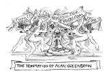 'The Temptation of Alan Greenspan' - New Yorker Cartoon Premium Giclee Print by Lee Lorenz