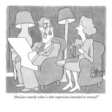 """And just exactly what is that expression intended to convey?"" - New Yorker Cartoon Premium Giclee Print by Gahan Wilson"