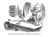 """I keep my core beliefs written on my palm for easy reference."" - New Yorker Cartoon Premium Giclee Print by Frank Cotham"
