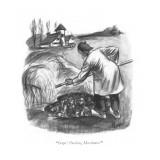 """Oops! Pardon, Messieurs!"" - New Yorker Cartoon Premium Giclee Print by John Ruge"